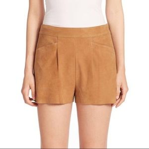 Joie Lautaro Genuine Suede Shorts